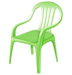 A green plastic chair vector