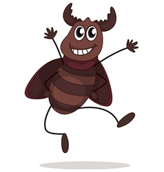 A smiling beetle vector