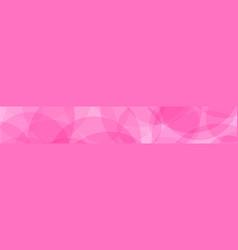 abstract banner of circles vector image
