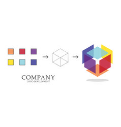 Abstract geometric logo development vector