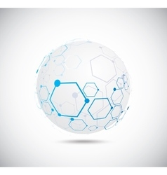 Abstract technology globe vector image