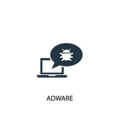 Adware icon simple element vector