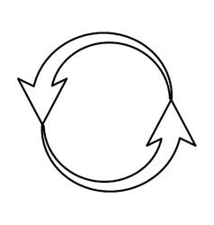 Arrows around isolated icon vector
