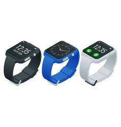 athlete smart watch or fitness bracelet isometric vector image