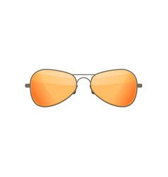 Aviator sunglasses with tinted orange lenses vector