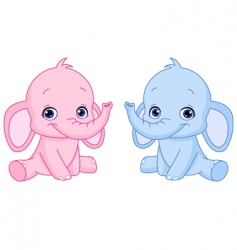 baby elephants vector image