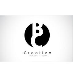 bc letter logo design inside a black circle vector image