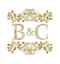 Bc vintage initials logo symbol letters b vector