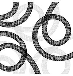 Black spiral tire tracks vector