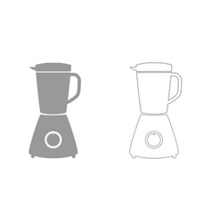 blender grey set icon vector image