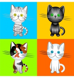 British cats of various colors vector image