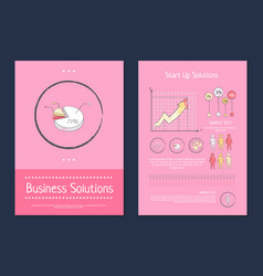 business and start up solution vector image