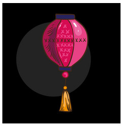 chinese lantern isolated vector image