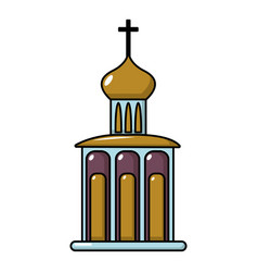 church building icon cartoon style vector image