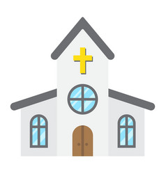 church flat icon easter and holiday vector image