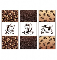 Coffee tea banners vector