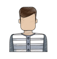 color blurred stripe of faceless man prisoner with vector image