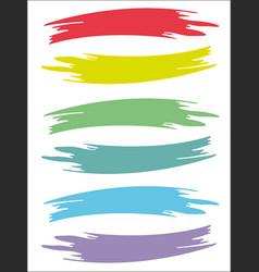 Colored brushstrokes retro prints texture set vector