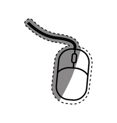 Computer mouse device vector image