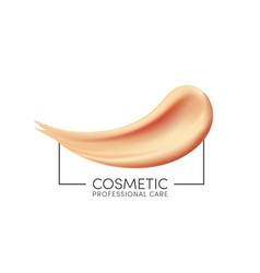 cosmetic foundation texture for makeup liquid vector image
