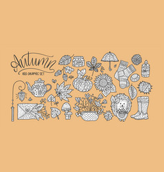 Cozy fall hand drawn vector