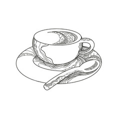 Cup of coffee doodle vector