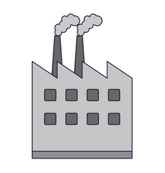 Factory building symbol isolated vector