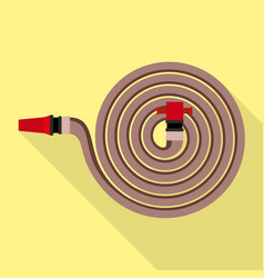 Fire hose icon flat style vector