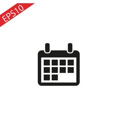 flat calendar icon calendar on the wall vector image