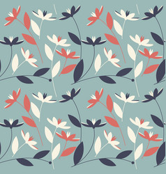 floral seamless pattern with elegant flowers vector image