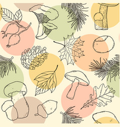 Forest seamless pattern vector