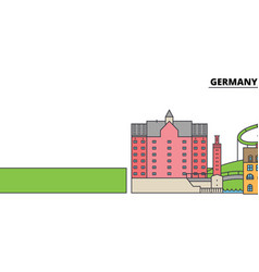 Germany duisburg city skyline architecture vector