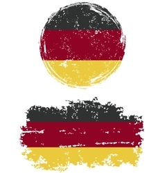 Germany round and square grunge flags vector