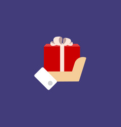 gift holding in the hands of men vector image