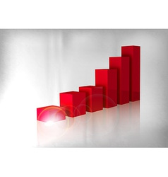 graph red vector image