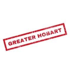 Greater hobart rubber stamp vector