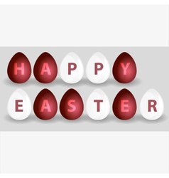 happy easter from red and white eggs eps10 vector image