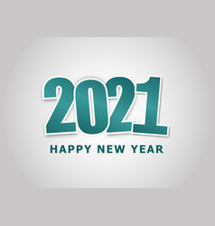 Happy new year 2021 with green theme vector
