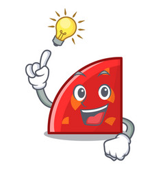 Have an idea quadrant mascot cartoon style vector