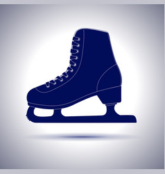 ice skate blue icon vector image