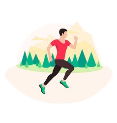 jogging and running man runner in motion vector image