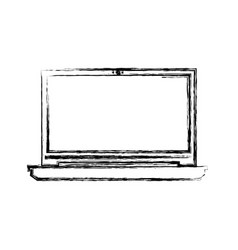 Laptop pc technology vector