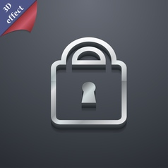 Lock icon symbol 3D style Trendy modern design vector image