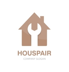 logo of repair of house vector image