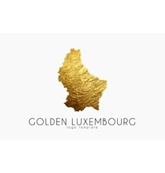 Luxembourg map Golden Luxembourg logo Creative vector image