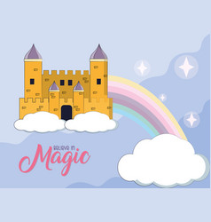 magic castle cartoon vector image
