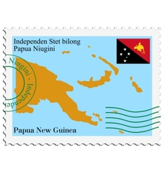 mail to-from Papua New Guinea vector image