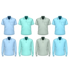 Men polo-shirt Shades of blue vector image