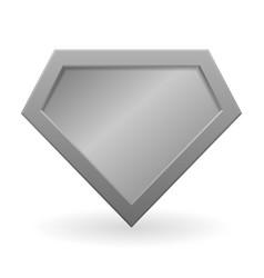 Metal superhero logo vector