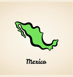mexico - outline map vector image
